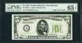 Fr. 1955-A $5 1934 Light Green Seal Federal Reserve Note. PMG Gem Uncirculated 65 EPQ
