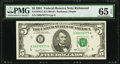 Small Size:Federal Reserve Notes, Fancy Serial Number 00070777 Fr. 1976-E $5 1981 Federal Reserve Note. PMG Gem Uncirculated 65 EPQ.. ...