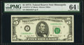 Fr. 1975-I* $5 1977A Federal Reserve Star Note. PMG Choice Uncirculated 64 EPQ