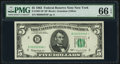 Low Serial Number 5946 Fr. 1967-B* $5 1963 Federal Reserve Star Note. PMG Gem Uncirculated 66 EPQ