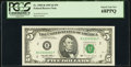"Fr. 1985-B $5 1995 Federal Reserve Note with ""Radar"" Serial Number 13333331. PCGS Superb Gem New 68PPQ"