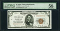 Fr. 1850-I $5 1929 Federal Reserve Bank Note. PMG Choice About Unc 58