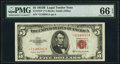 Small Size:Legal Tender Notes, Fr. 1534* $5 1953B Legal Tender Star Note. PMG Gem Uncirculated 66 EPQ.. ...