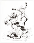 Original Comic Art:Illustrations, Jim Starlin - Thanos, Captain Marvel, and Adam Warlock Specialty Illustration Original Art (undated)....