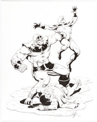 Jim Starlin - Thanos, Captain Marvel, and Adam Warlock Specialty Illustration Original Art (undated)