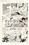 "Original Comic Art:Complete Story, Sid Greene ""The bigger they are..."" Unpublished Complete 1-Page Story Original Art (DC, 1967)...."