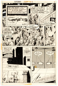 Curt Swan and Murphy Anderson Superman #256 Story Page 2 Original Art (DC Comics, 1972)