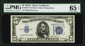 Small Size:Silver Certificates, Fr. 1651* $5 1934A Silver Certificate Star. PMG Gem Uncirculated 65 EPQ.. ...