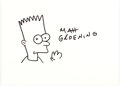 Original Comic Art:Sketches, Matt Groening - Bart Simpson Illustration Original Art (undated)....