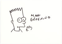 Matt Groening - Bart Simpson Illustration Original Art (undated)