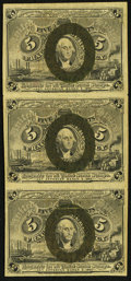Fractional Currency:Second Issue, Fr. 1233 5¢ Second Issue Vertical Strip of Three Very Fine.. ...