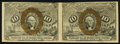 Fractional Currency:Second Issue, Fr. 1244 10¢ Second Issue Horizontal Pair Very Fine.. ...