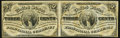 Fractional Currency:Third Issue, Fr. 1227 3¢ Third Issue Horizontal Uncut Pair Very Fine-Extremely Fine.. ...