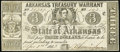 Obsoletes By State:Arkansas, (Little Rock), AR - Arkansas Treasury Warrant $3 Apr. 1, 1863 Cr. 42A Very Fine.. ...