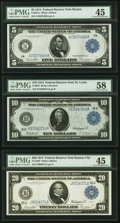 Fr. 847a $5 1914 Federal Reserve Note PMG Choice Extremely Fine 45; Fr. 934 $10 1914 Federal Reserve Note PMG C