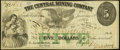 Obsoletes By State:Michigan, Eagle Harbor, MI- Central Mining Company $5 Jan. 1, 1864 Lee CMCG-7-4 Fine-Very Fine.. ...