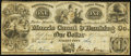 Obsoletes By State:New Jersey, Jersey City, NJ- Morris Canal and Banking Company Post Note $1 July 7, 1841 Fine.. ...
