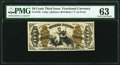 Fractional Currency:Third Issue, Fr. 1345 50¢ Third Issue Justice PMG Choice Uncirculated 63.. ...