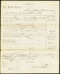 Miscellaneous:Other, Discharge Pay Form - Simon B. Hill, Co. B, 10th Regiment Massachusetts Volunteer Infantry August 28, 1862 Very Fine-Extremely ...