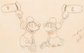 Animation Art:Production Drawing, The Whoopee Party Mickey and Minnie Production Drawing (Walt Disney, 1932)....