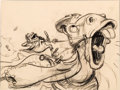 Animation Art:Concept Art, The Adventures of Ichabod and Mr. Toad Mr. Toad and Cyril Storyboard/Concept Art (Walt Disney, 1949). ...