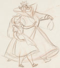 Animation Art:Production Drawing, Alice in Wonderland Alice with the Queen of Hearts Animation Drawing (Walt Disney, 1951)....