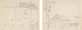 Animation Art:Concept Art, Mickey's Follies Background Layout Drawings Group of 2 (Walt Disney, 1929).... (Total: 2 Origin...