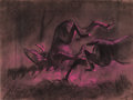"Animation Art:Concept Art, Bambi ""Stag Fight"" Concept Drawing O..."