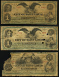 St. Louis, MO- City of St. Louis $1 (2); $3 Nov. 1, 1873 About Good or Better. ... (Total: 3 notes)