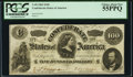 Confederate Notes:1862 Issues, T49 $100 1862 PCGS Choice About New 55PPQ.. ...