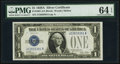 Fr. 1601 $1 1928A Silver Certificate. PMG Choice Uncirculated 64 EPQ