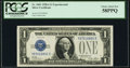 Small Size:Silver Certificates, Fr. 1601 $1 1928A Silver Certificate. Y-B Experimental. PCGS Choice About New 58PPQ.. ...