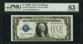 Small Size:Silver Certificates, Fr. 1602 $1 1928B Silver Certificate. PMG Choice Uncirculated 63 EPQ.. ...