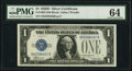Small Size:Silver Certificates, Fr. 1604 $1 1928D Silver Certificate. PMG Choice Uncirculated 64.. ...