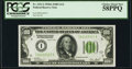 Fr. 2151-I $100 1928A Light Green Seal Federal Reserve Note. PCGS Choice About New 58PPQ