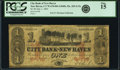 New Haven, CT - City Bank of New Haven $1 July 1, 1865 G12c PCGS Fine 15