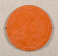 Sculpture, Glenna Goodacre (American, b. 1939). Study for Sacagawea Dollar Coin, 1999. Terracotta. 7 inches (17.8 cm) (diameter). I...