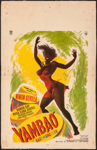 """Cry of the Bewitched (Peliculas Nacionales, 1957). Folded on European Linen, Fine+. Mexican Window Card (12.5"""" X 19..."""
