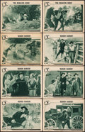 """Movie Posters:Serial, Overland Mail (Universal, 1942). Fine+. Lobby Cards (8) (11"""" X 14"""") with Original Studio Envelope. Chapter 9 -- """"Hidden Dang... (Total: 9 Items)"""