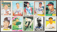 Signed Baseball Hall of Famers Card Collection (10). ... (Total: 3 items)
