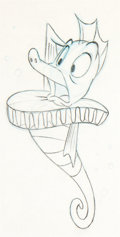 Animation Art:Production Drawing, The Little Mermaid Seahorse Herald A...