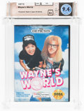 Video Games:Nintendo, Wayne's World [Made in Japan, No Rating, Earlier Release] Wata 9.4 A+ Sealed GEN THQ 1993 USA....
