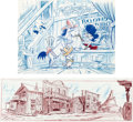 Animation Art:Production Drawing, The Quick Draw McGraw Special Backgr...