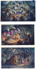 Animation Art:Production Drawing, All Dogs Go to Heaven Painted Storyb...