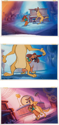 All Dogs Go to Heaven Painted Storyboard Art Group of 7 (Don Bluth, 1989). ... (Total: 7 Original Art)
