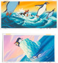 Animation Art:Production Drawing, The Pebble and the Penguin Painted S...