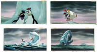 The Pebble and the Penguin Painted Storyboard Art Group of 8 (Don Bluth Productions/MGM, 1995).... (Total: 8 Original Ar...