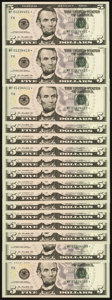 Small Size:Federal Reserve Notes, Up Ladder Progression Fr. 1996-F* $5 2013 Federal Reserve Star Notes. Sixteen Examples. Gem Crisp Uncirculated.. ... (Total: 16 notes)