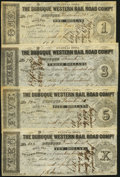 Obsoletes By State:Iowa, Dubuque, IA- Dubuque Western Rail Road Compy. $1; $3; $5; $10 1857 Fine or Better.. ... (Total: 4 notes)