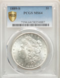 Morgan Dollars: , 1889-S $1 MS64 PCGS. PCGS Population: (2416/842). NGC Census: (1364/270). CDN: $450 Whsle. Bid for problem-free NGC/PCGS MS...